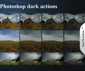 Dark photoshop actions