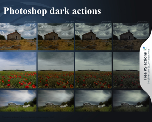 Dark photoshop actions