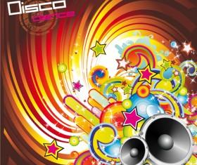 Music elements Disco dance vector 01