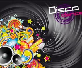 Music elements Disco dance vector 02