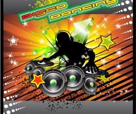 Music elements Disco dance vector 03