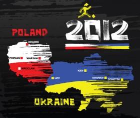 UEFA EURO 2012 design elements vector 03