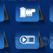 Link toDifferent multimedia icon vector set