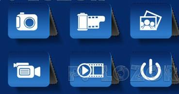 Different multimedia icon vector set