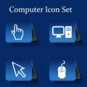 Link toDifferent computer icon vector set