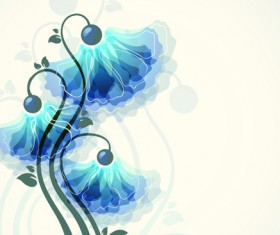 Set vector of Romantic Flowers art 01