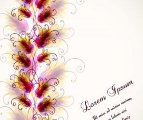 Set vector of Romantic Flowers art 02