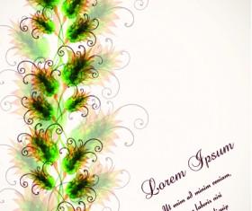 Set vector of Romantic Flowers art 03
