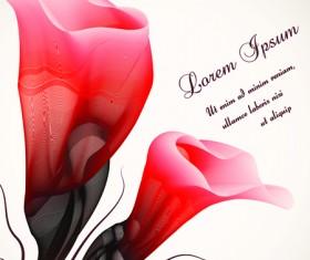 Set vector of Romantic Flowers art 05