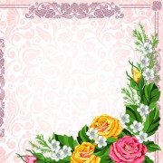 Link toSet of frame with flowers luxurious vector background 02