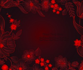 Hand drawn floral backgrounds vector 02