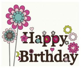 Happy Birthday elements card vector 02