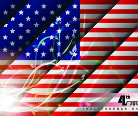 Independence Day July 4 design elements vector 03
