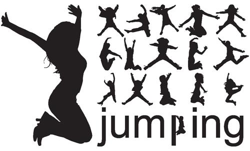 Jumping People Silhoue...