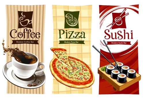 Free EPS file Pizza Menu elements vector 01 download