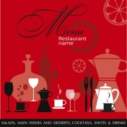 Link toRestaurant menu background vector set 01