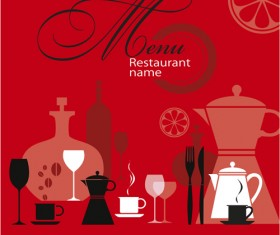 Restaurant menu background vector set 01