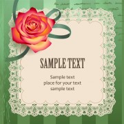 Link toElements of vintage romantic roses cards vector 03