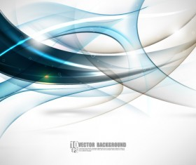Set of ornate waves vector background 38