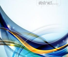 Set of ornate waves vector background 40