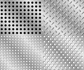 Elements of Steel backgrounds vector set 03