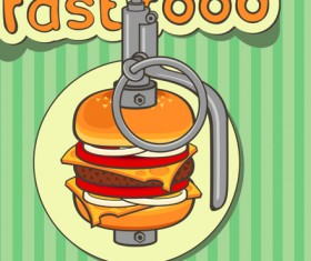 Set of Retro cover menu cafe and restaurant vector 05