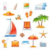Link toSet of summer seashore elements vector 01