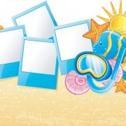 Link toSet of summer holidays elements vector background 01
