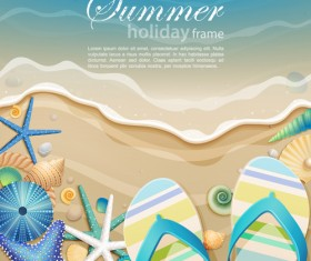 Set of Summer holidays elements vector background 02