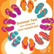 Link toSet of summer holidays elements vector background 03