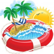 Link toSet of summer holidays elements vector background 04