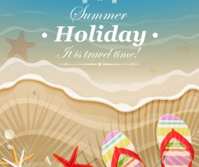 Set of Summer holidays elements vector background 06