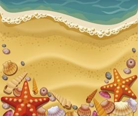 Set of Summer holidays elements vector background 07