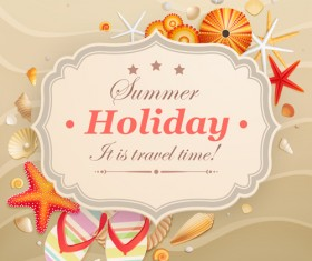Set of Summer holidays elements vector background 08