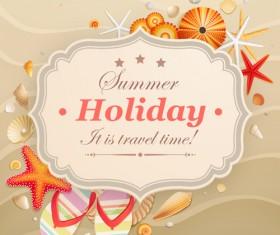 Set of Summer holidays elements vector background 08
