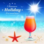 Link toSet of summer holidays elements vector background 09