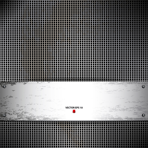 Set vector of Metal Technology Backgrounds 01