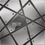 Link toSet vector of metal technology backgrounds 02