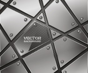 Set vector of Metal Technology Backgrounds 02