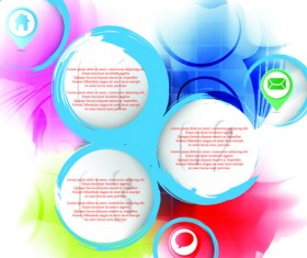 Range Circle for text Template vector background 02