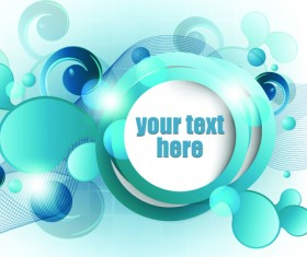 Range Circle for text Template vector background 04