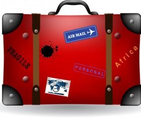 Set of Travel bags Illustration vector 01
