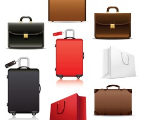 Set of Travel bags Illustration vector 04