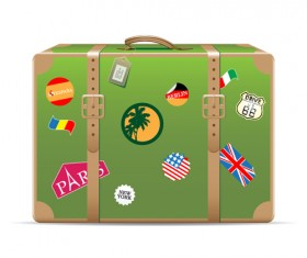 Set of Travel bags Illustration vector 05