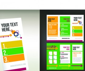 Set of Tri fold business brochure cover vector 06