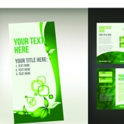 Link toSet of tri fold business brochure cover vector 09