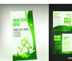 Set of Tri fold business brochure cover vector 09