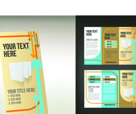 Set of Tri fold business brochure cover vector 10