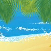 Link toElements of tropical beach background vector art 01