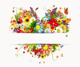 Set of Vector Colorful Butterflies background 05